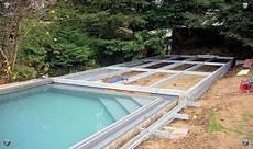 pool terrasse bauen k 246 rtge metallbau 187 poolabdeckung poolabdeckung