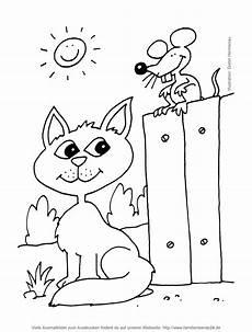 ausmalbild katze maus ausmalbild kostenlos