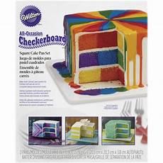 square checkerboard cake pan wilton