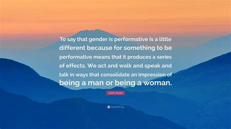 Judith Butler Gender