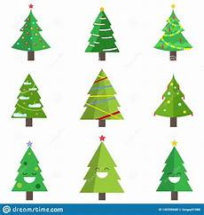 of christmas tree with garland toy snow isolated white background merry happy