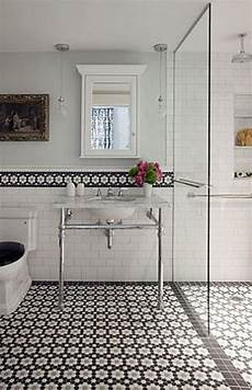 Black And White Bathroom Tile Ideas 37 Black And White Hexagon Bathroom Floor Tile Ideas And