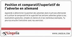 comparatif en allemand position et comparatif superlatif de l adverbe en allemand