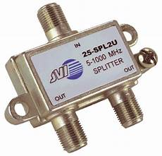 2 way splitter for air antenna and cable tv signals