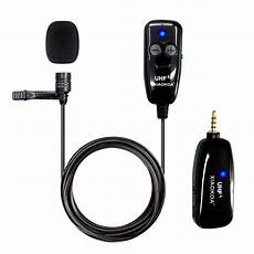phone interview shopee xiaokoa uhf lavalier wireless microphone recording youtube live interview mic for iphone android