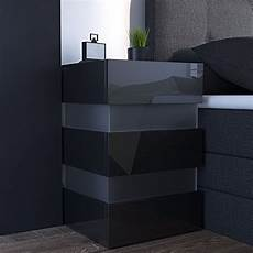 nachttisch led 70cm hoch f 252 r boxspringbett schwarz