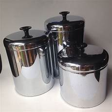 vintage kitchen canisters sets vintage pantry set of 3 stainless canisters 1950 s