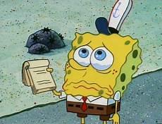 Gambar Spongebob Menangis
