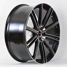 4 gwg wheels 18 inch black machined flow rims fits 5x114 3