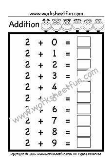 basic addition facts 0 9 ten worksheets printable worksheets free printable worksheets