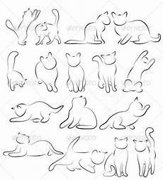 Malvorlage Katze Silhouette Katzen Silhouetten Tiercharaktere Katzensilhouetten