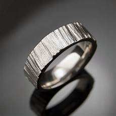 saw cut wedding band ring textured palladium ring unisex
