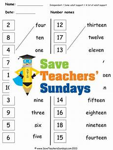 numbers in words ks1 worksheets lesson plans and flashcards by saveteacherssundays teaching