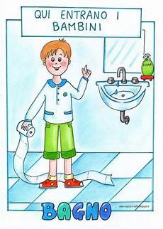 disegno bagno maestra nella cartelloni per la porta bagno