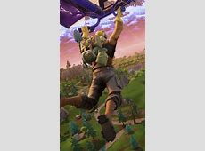Fortnite Battle Royale Player Flying   Fondo de Pantalla