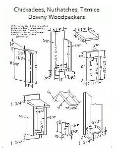 chickadee house plans birdhouse plans index attract bird families