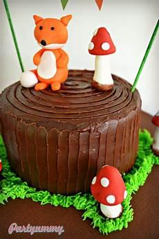 gateau anniversaire enfants gateau animaux foret renard woodland cake fox 2