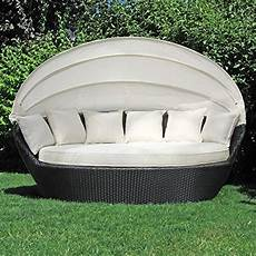 Li Il Sonneninsel Polyrattan Garten Lounge Rund Mit 6 Kissen