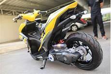 Yamaha Aerox Modif by Modifikasi Yamaha Aerox Kuning Belakang Warungasep