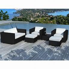 Salon De Jardin En R 233 Sine Tress 233 E Quot Portofino Quot Blanc Noir