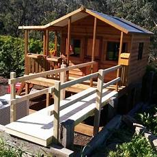 elevated cubby house plans elevated taj mahal cubby house with bridge cubbies