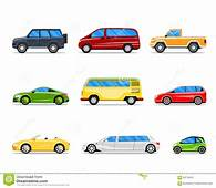 Vector Car Icons In Flat Style Stock  Illustration