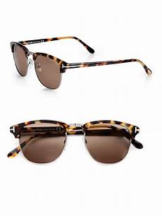 lyst tom ford henry retro sunglasses in brown for