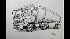 Drawing A Tanker Truk Using A Pen Menggambar Truk Tangki
