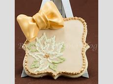 Poinsettia Brush Embroidery Sugar Cookie Card   Bobbies