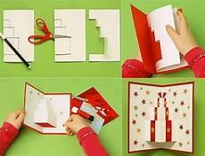 pop up karte mit geschenkmotiv selber basteln karten