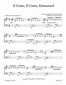 download o come o come emmanuel piano solo sheet music by traditional sheet music plus