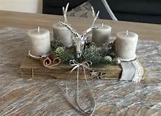 adventskranz mit holz deko weihnachten in deutschland