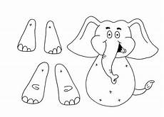 elefant basteln vorlage elephant puppet taggies crafts for paper crafts