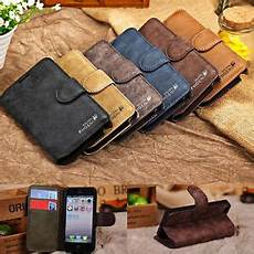 genuine flip credit card slot stand cover case wallet for iphone samsung ebay