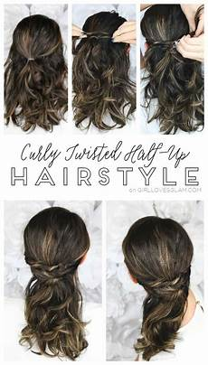 Easy Half Up Hairstyles For Curly Hair