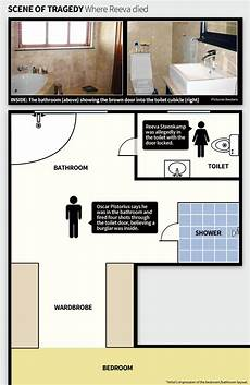 oscar pistorius house plan csi toilet door key to oscar pistorius defence as