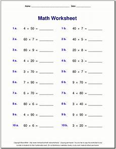 multiplication worksheets single digit 4589 grade 4 multiplication worksheets