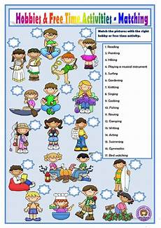 free activity worksheets 20305 hobbies and free time activities worksheet free esl printable worksheets made by teachers
