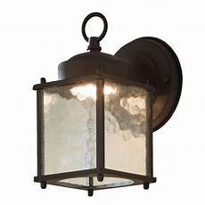 portfolio wall lantern 8 25 in h black led outdoor wall light at lowes com