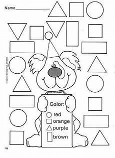 colors shapes worksheets 12808 color by the shape matematik preschool worksheets shapes worksheets ve kindergarten worksheets