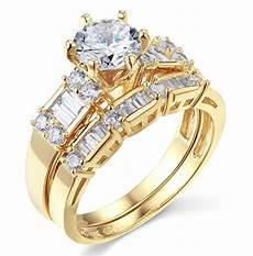 2 75 ct cut engagement wedding ring real 14k