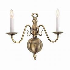 livex lighting providence 2 light brass sconce 5002 01 the home depot