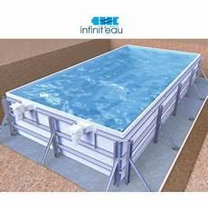 piscine acier galvanisé enterrée piscine en kit en panneau ou acier galvanis 233