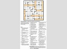 types of crossword puzzles