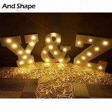 15cm 6 wooden letter led marquee sign alphabet light indoor wall light up love wedding