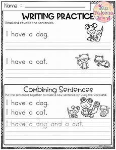 free writing practice combining sentences best of tpt