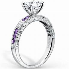 kirk kara quot quot purple amethyst diamond engagement ring