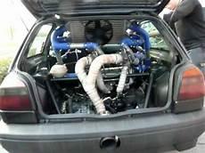golf vr6 turbo golf 3 vr6 bi turbo heckmotor rwd im standgas