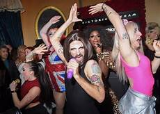 beckham surprised with spice drag act at london fashion week party huffpost uk