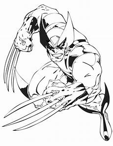 wolverine from x coloring page free
